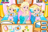 艾尔莎护理婴儿双胞胎