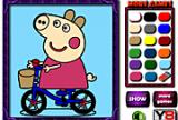 Happy Pig Coloring