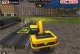 Ciężki parking Koparka 3D
